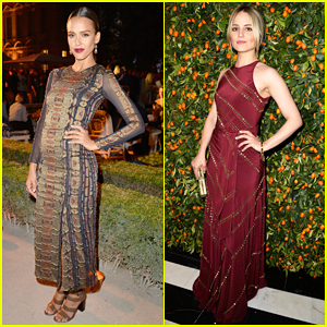 Jessica Alba & Dianna Agron Bring Galmour to Tory Burch's Paris Flagship Store Opening!