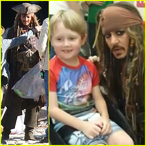 Johnny Depp Surprises Young Patients at Australian Hospital