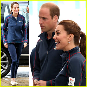 Kate Middleton & Prince William Get Caught in the Rain at America's Cup Event