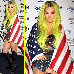 Kesha Is All Wrapped Up in America for Rehab's Pool Party