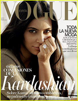 Kim Kardashian Goes Makeup Free for 'Vogue Espana' Cover