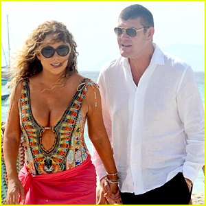 Mariah Carey & James Packer Hold Hands For Their Beachside Walk