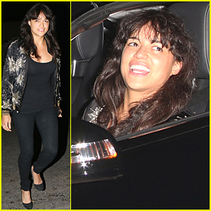 Michelle Rodriguez Ruins Her Prius Before Independence Day