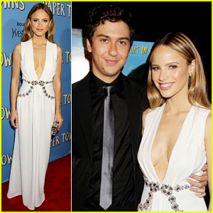 Nat Wolff & Halston Sage Premiere 'Paper Towns' in New York