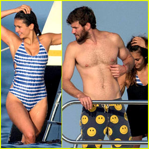 Nina Dobrev Wears a Sexy Swimsuit Alongside Shirtless Boyfriend A
