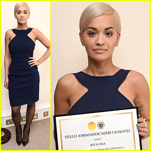 Rita Ora Receives Honorary Ambassadorship To Kosovo