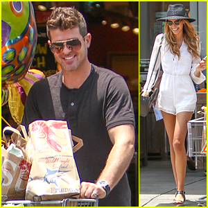 Robin Thicke's Girlfriend April Love Geary Loves Grocery Shopping