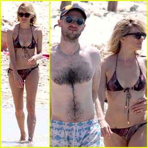 Bikini-Clad Sienna Miller & Shirtless Tom Sturridge Continue Beach Vacation in Spain