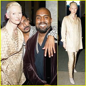 Kanye West & Tilda Swinton Celebrate Paris Fashion Week at Haider Ackermann Dinner!