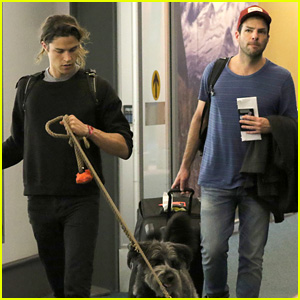Zachary Quinto & Miles McMillan Hit Vancouver With Their Pups