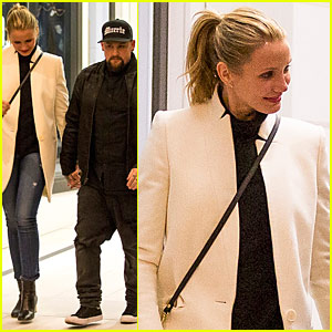 Cameron Diaz & Husband Benji Madden Have a Dinner Date Down Un