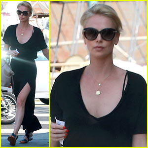 Charlize Theron Shows Some Leg While Heading to Lunch