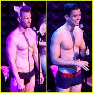 Broadway Stars Christopher J. Hanke & Matt Doyle Strip to Their 'Skivvies' in Concert!