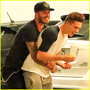 David & Brooklyn Beckham Horse Around & Have a Blast Together!