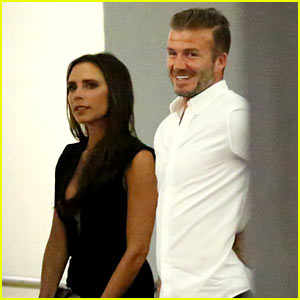 David & Victoria Beckham Double Date with Simon Fuller