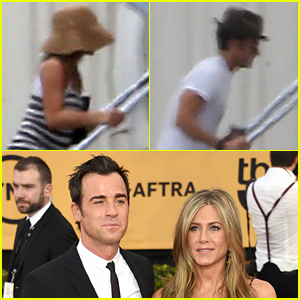 Newlyweds Jennifer Aniston & Justin Theroux Jet Out of Town After Their Wedding!