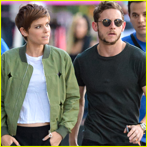 Kate Mara & Jamie Bell Continue 'Fantastic Four' Promo In New York City