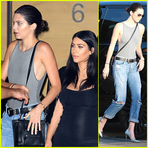 Kendall Jenner Goes Casual Chic for Kylie's Birthday Dinner