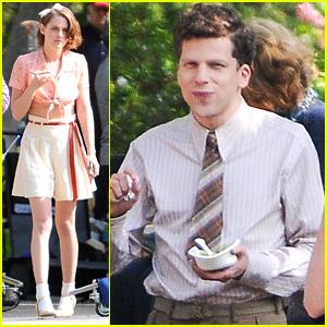 Jesse Eisenberg & Kristen Stewart Start Filming On Woody Allen's New Movie