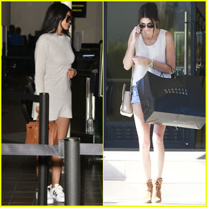 Kylie & Kendall Jenner Head Out & About After Birthday Vacay in Mexico