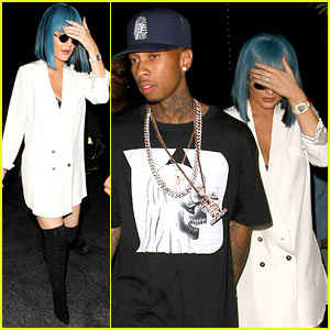 Kylie Jenner & Tyga Step Out After Getting Water Citations