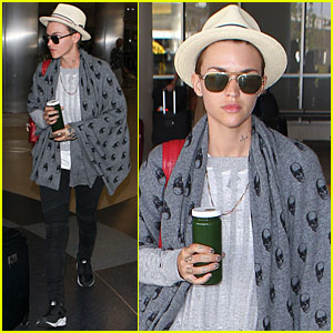 Ruby Rose Heads Back to LA After Ibiza Vacation