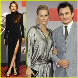 Rupert Friend Brings Fiancee Aimee Mullins to Berlin for 'Hitman: Agent 47' Premiere