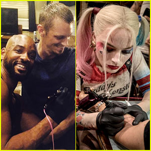 'Suicide Squad' Stars Tattoo Each Other with 'Skwad'