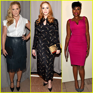 Amy Schumer & Christina Hendricks Step Out for Zac Posen's NYFW Show!