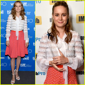 Brie Larson Accepts IMDb's 'STARmeter' at TIFF Dinner Party