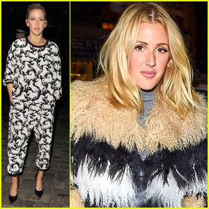 Ellie Goulding Kicks Off London Fashion Week in Regents Park