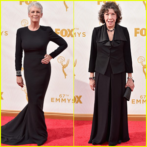 Jamie Lee Curtis & Lily Tomlin Don All Black to the Emmys