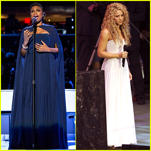 Jennifer Hudson & Shakira Perform for Pope Francis in NYC