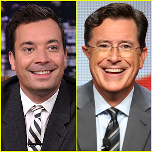Jimmy Fallon Wishes Stephen Colbert Good Luck on 'Late Show' Debut!