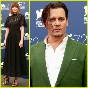 Johnny Depp & Dakota Johnson Hit Venice Film Festival for 'Black Mass' Photo Call!