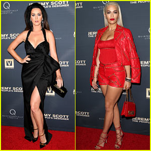 Katy Perry & Rita Ora Flaunt Lots of Leg for Jeremy Scott