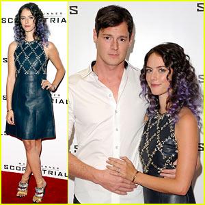 Maze Runner's Kaya Scodelario Debuts Purple Hair, Brings Fiance Benjamin Walker to U.K. Screening
