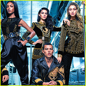 Gigi Hadid & Kendall Jenner Join Jourdan Dunn In New 'Balmain For H&M' Campaign