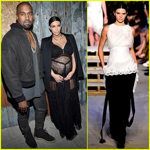 Kim Kardashian Covers Baby Bump in Sheer Dress at Givenchy Fashion Show