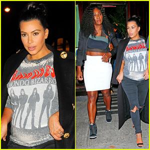 Kim Kardashian & Serena Williams Get In Girl Time Over Tea