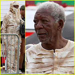 Morgan Freeman Dressed as a Mummy Will Make Your Day
