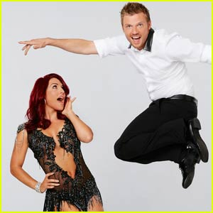 Nick Carter Does the Foxtrot With Partner Sharna Burgess on 'DWTS' (Video)