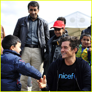 Orlando Bloom Visits Syrian Refugees on UNICEF Trip