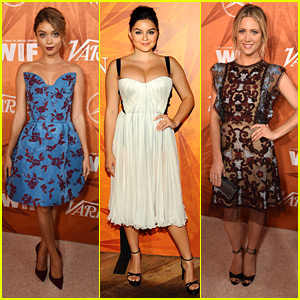 Sarah Hyland & Brittany Snow Glam Up Variety & Women In Film's Emmy Nominee Party