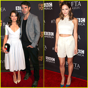 Tatiana Maslany & Boyfriend Tom Cullen Couple Up for BAFTA's Emmys Tea Party