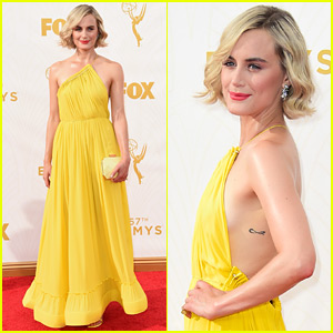 Taylor Schilling Goes Yellow at the Emmys 2015!