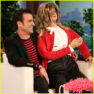 Justin Theroux Receives Life-Size Jennifer Aniston Doll From Ellen DeGeneres!