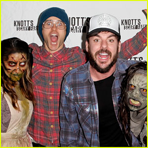 Jared Leto Lets Out a Scream at Knott's Scary Farm!