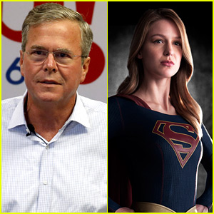 Presidential Candidate Jeb Bush Calls Supergirl's Melissa Benoist 'Pretty Hot' in New Interview (Video)