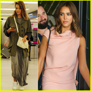 Jessica Alba & Cash Warren Jet To Miami For A Business Conference